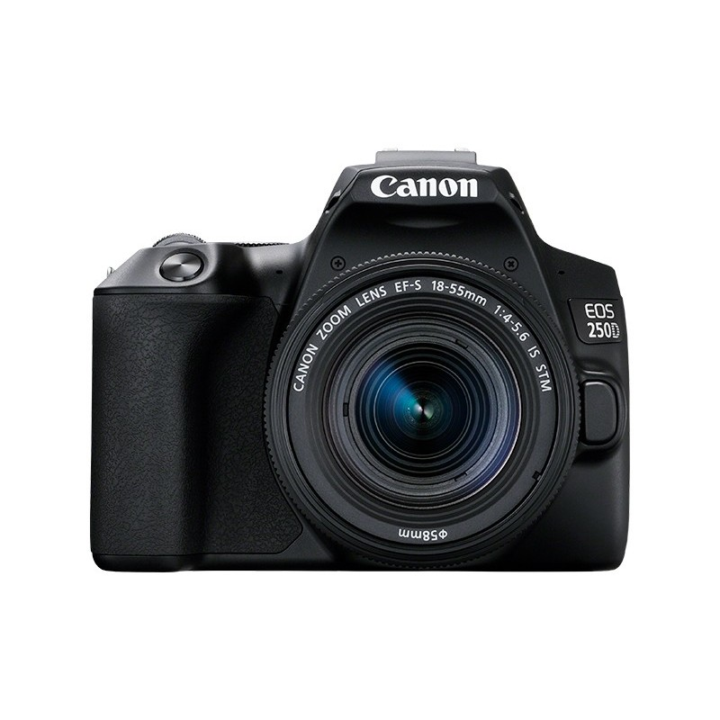 Canon EOS 250D + EF-S 18-55mm f 4-5.6 IS STM Kit fotocamere SLR 24,1 MP CMOS 6000 x 4000 Pixel Nero