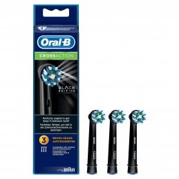 Oral-B Testine Di Ricambio CrossAction Black 3 Pezzi