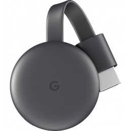 Google Chromecast 3 dongle Smart TV Full HD HDMI Carbonio