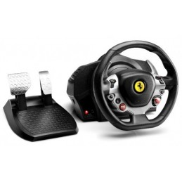 Thrustmaster TX Racing Wheel Ferrari 458 Italia Edition Sterzo + Pedali PC,Xbox One Nero, Argento