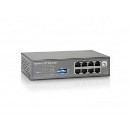 LevelOne FEP-0800W65 Fast Ethernet (10 100) Grigio Supporto Power over Ethernet (PoE)