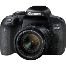 Canon EOS 800D + EF-S 18-55mm 4.0-5.6 IS STM Kit fotocamere SLR 24,2 MP CMOS 6000 x 4000 Pixel Nero