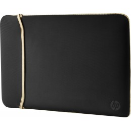 "HP 14"" Neoprene Reversible Sleeve borsa per notebook 35,6 cm (14"") Custodia a tasca Nero, Oro"