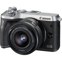 Canon EOS M6 + EF-M 15-45mm 3.5-6.3 IS STM MILC 24,2 MP CMOS 6000 x 4000 Pixel Nero, Argento