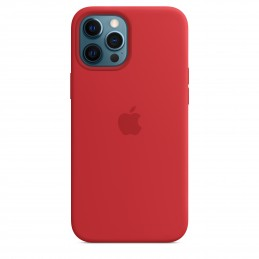 Apple Custodia MagSafe in silicone per iPhone 12 Pro Max - (PRODUCT)RED
