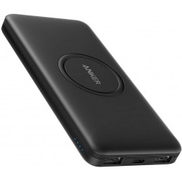 Anker PowerCore Wireless 10K batteria portatile 10000 mAh Carica wireless Nero