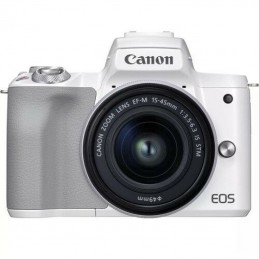 Canon EOS M50 Mark II Wit + 15-45mm IS STM Ziver
